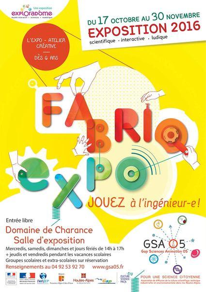 Fête science Hautes Alpes Fabriqu'expo Gap Charance