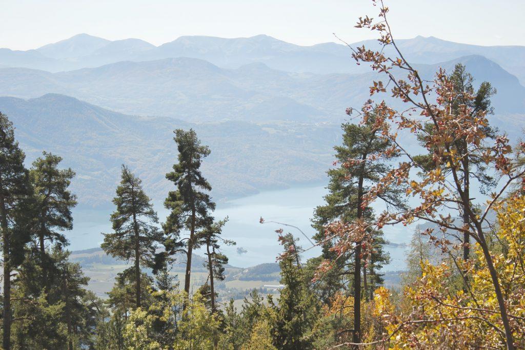 Randonnée autour d'Embrun Lac de Serre Poncon réallon
