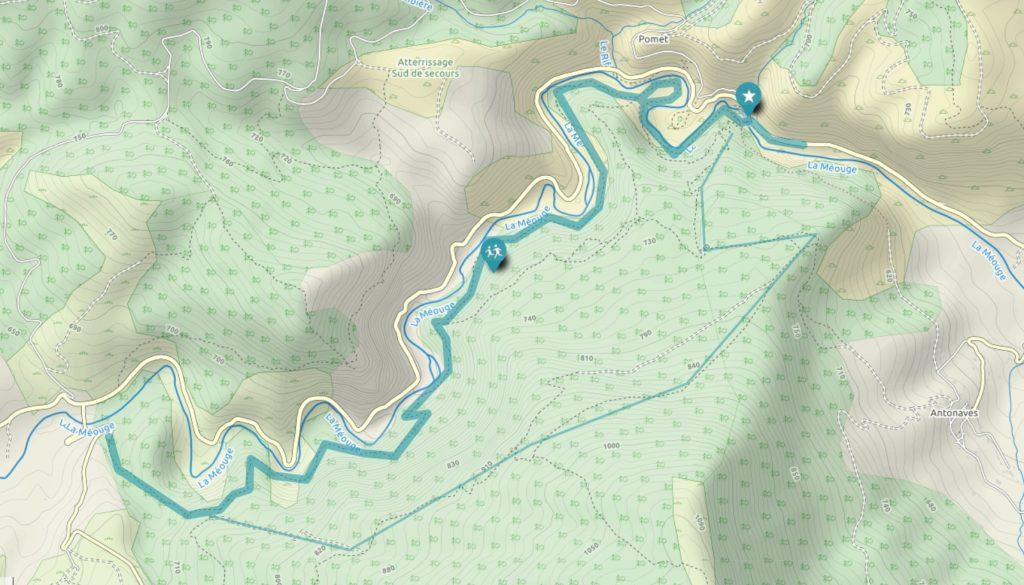 topo carte rando gorges de la méouge